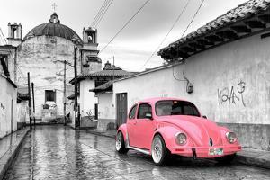 ?Viva Mexico! B&W Collection - Pink VW Beetle Car in San Cristobal de Las Casas by Philippe Hugonnard