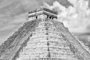 ¡Viva Mexico! B&W Collection - Pyramid Chichen Itza II by Philippe Hugonnard