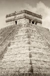 ¡Viva Mexico! B&W Collection - Pyramid Chichen Itza III by Philippe Hugonnard