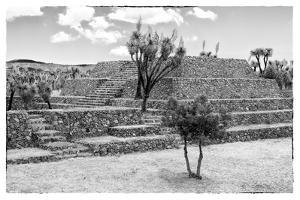 ¡Viva Mexico! B&W Collection - Pyramid of Cantona III by Philippe Hugonnard