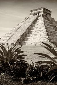¡Viva Mexico! B&W Collection - Pyramid of Chichen Itza III by Philippe Hugonnard