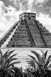 ¡Viva Mexico! B&W Collection - Pyramid of Chichen Itza IX by Philippe Hugonnard