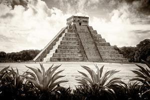 ¡Viva Mexico! B&W Collection - Pyramid of Chichen Itza VI by Philippe Hugonnard