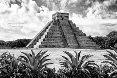 ¡Viva Mexico! B&W Collection - Pyramid of Chichen Itza VII by Philippe Hugonnard