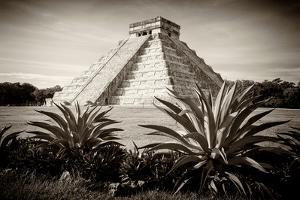 ¡Viva Mexico! B&W Collection - Pyramid of Chichen Itza by Philippe Hugonnard
