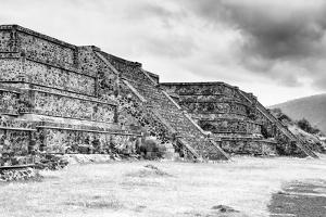 ¡Viva Mexico! B&W Collection - Teotihuacan Pyramids III by Philippe Hugonnard