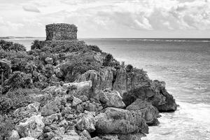 ¡Viva Mexico! B&W Collection - Tulum Mayan Archaeological Site by Philippe Hugonnard