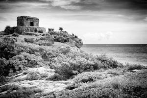 ¡Viva Mexico! B&W Collection - Tulum Riviera Maya I by Philippe Hugonnard