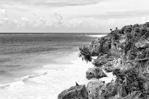 ¡Viva Mexico! B&W Collection - Tulum Riviera Maya II by Philippe Hugonnard