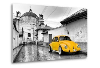 ¡Viva Mexico! B&W Collection - Yellow VW Beetle Car in San Cristobal de Las Casas