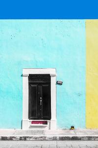 ¡Viva Mexico! Collection - 124 Street Campeche - Turquoise & Yellow Wall by Philippe Hugonnard