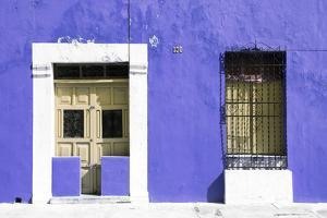 ¡Viva Mexico! Collection - 130 Street Campeche - Eggplant Wall by Philippe Hugonnard