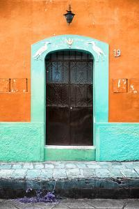 ¡Viva Mexico! Collection - 19e Door and Orange Wall by Philippe Hugonnard