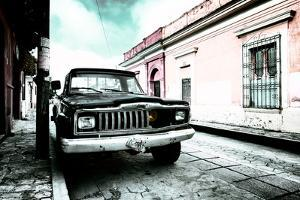 ¡Viva Mexico! Collection - Black Jeep and Colorful Street V by Philippe Hugonnard
