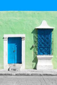 ¡Viva Mexico! Collection - Blue and Green Facade - Campeche by Philippe Hugonnard