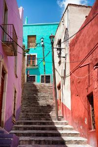 ?Viva Mexico! Collection - Colorful Houses and Staircase - Guanajuato by Philippe Hugonnard