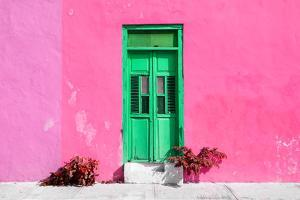 ¡Viva Mexico! Collection - Colorful Street Wall III by Philippe Hugonnard