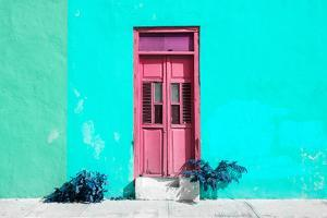 ¡Viva Mexico! Collection - Colorful Street Wall IV by Philippe Hugonnard