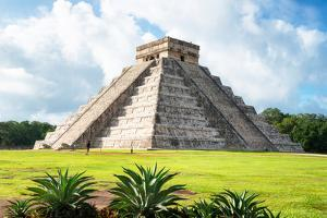 ¡Viva Mexico! Collection - El Castillo Pyramid in Chichen Itza X by Philippe Hugonnard
