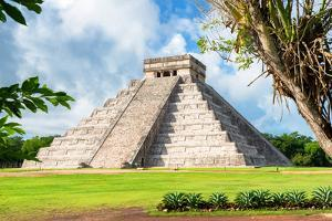 ¡Viva Mexico! Collection - El Castillo Pyramid in Chichen Itza XVII by Philippe Hugonnard