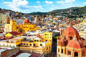 ¡Viva Mexico! Collection - Guanajuato - View of City II by Philippe Hugonnard