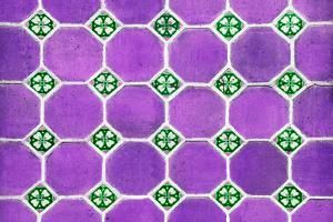¡Viva Mexico! Collection - Mosaics Purple Bricks by Philippe Hugonnard