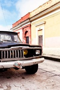 ¡Viva Mexico! Collection - Old Black Jeep and Colorful Street III by Philippe Hugonnard