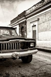 ¡Viva Mexico! Collection - Old Black Jeep and Colorful Street IV by Philippe Hugonnard