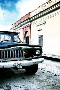 ¡Viva Mexico! Collection - Old Black Jeep and Colorful Street V by Philippe Hugonnard