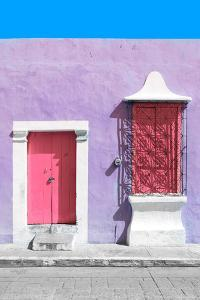 ¡Viva Mexico! Collection - Pink and Mauve Facade - Campeche by Philippe Hugonnard