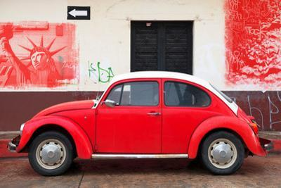 ¡Viva Mexico! Collection - Red VW Beetle Car and American Graffiti