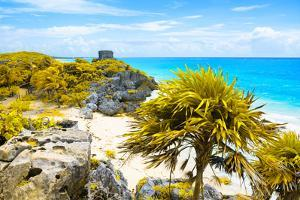 ¡Viva Mexico! Collection - Tulum Ruins along Caribbean Coastline I by Philippe Hugonnard