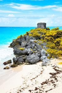 ¡Viva Mexico! Collection - Tulum Ruins along Caribbean Coastline IX by Philippe Hugonnard