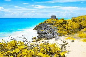 ¡Viva Mexico! Collection - Tulum Ruins along Caribbean Coastline V by Philippe Hugonnard