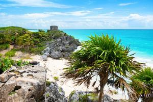 ¡Viva Mexico! Collection - Tulum Ruins along Caribbean Coastline by Philippe Hugonnard