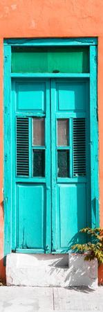 ¡Viva Mexico! Collection - Turquoise Window and Coral Wall by Philippe Hugonnard