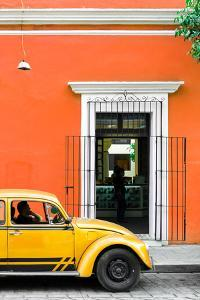 ¡Viva Mexico! Collection - Volkswagen Beetle Car - Orange & Gold by Philippe Hugonnard