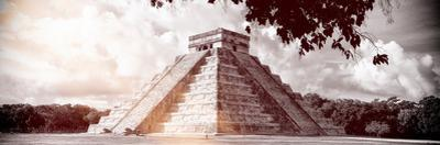 ¡Viva Mexico! Panoramic Collection - El Castillo Pyramid in Chichen Itza IX by Philippe Hugonnard