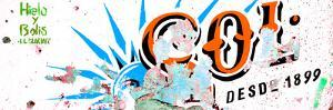 ¡Viva Mexico! Panoramic Collection - Orange SOL Sign Street Wall by Philippe Hugonnard