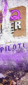 ¡Viva Mexico! Panoramic Collection - Purple Grunge Wall II by Philippe Hugonnard