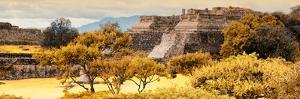 ?Viva Mexico! Panoramic Collection - Pyramid of Monte Alban with Fall Colors by Philippe Hugonnard
