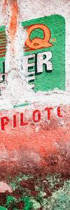 ¡Viva Mexico! Panoramic Collection - Red Grunge Wall II by Philippe Hugonnard