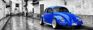?Viva Mexico! Panoramic Collection - Royal Blue VW Beetle Car in San Cristobal de Las Casas by Philippe Hugonnard