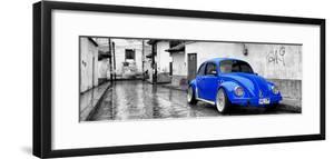 ?Viva Mexico! Panoramic Collection - Royal Blue VW Beetle Car in San Cristobal de Las Casas by Philippe Hugonnard