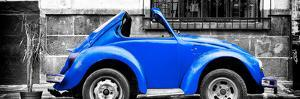 ?Viva Mexico! Panoramic Collection - Small Royal Blue VW Beetle Car by Philippe Hugonnard