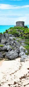 ?Viva Mexico! Panoramic Collection - Tulum Ruins along Caribbean Coastline by Philippe Hugonnard
