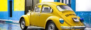 ¡Viva Mexico! Panoramic Collection - VW Beetle and Yellow Wall by Philippe Hugonnard