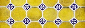 ¡Viva Mexico! Panoramic Collection - Wall of Yellow Mosaics by Philippe Hugonnard