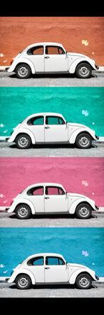 ¡Viva Mexico! Panoramic Collection - White VW Beetle Cars
