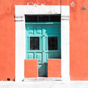 """¡Viva Mexico! Square Collection - """"130 Street"""" Coral Wall by Philippe Hugonnard"""